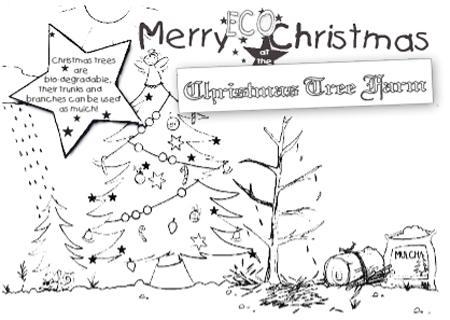 Real Christmas Trees Environment Tree Farm Coloring Page